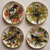 BYBCDD157 - Bird W/Flower Plate 6Pcs.