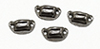 CLA05549 - Victorian Drawer Pulls, Black, 4/Pk