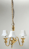HW2523 - 3 Up-Arm Chandelier W/White Shade