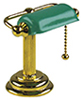 HW2709 - Banker'S Desk Lamp, Green