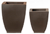 HW4023 - Resin Square Planters, 2 Pcs