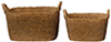 HW4024 - Resin Oblong Baskets, 2Pcs