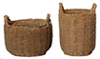 HW4025 - Resin Round Baskets, 2Pcs