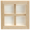 HWH5004 - 1/2 Scale: Single 4-Light Window