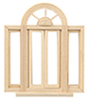 HWH5049 - 1/2 Scale: Circlehead Double Casement Window