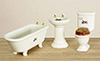 AZ00301 - Bathroom Set, 3Pc, Decal/Cs