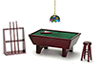 AZ91323 - Pool Table Set 24/Mahogany/Cs