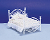 AZD0298 - Brass Bed, White/Cb