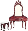 AZD0485 - Dressing Table/Stool, Mahogany/Cb