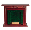 AZD1117 - Fireplace, Mahogany