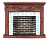 AZD1679 - Brown Resin Fireplace
