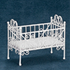 AZEIWF188 - Baby Crib, White Wire/Cb