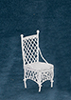 AZEIWF209B - Straight Chair, White Wire