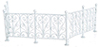 AZEIWF526 - Wrought Iron Fence, White, 6Pc