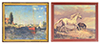 AZG7191 - Monet/Horses/Canvas/Metal