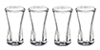 Curved Glasses Set, 4pc