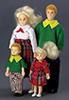 AZG7601 - Modern Doll Family, 4Pc, Blonde