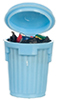 AZG8188 - Blue Garbage Can/Filled