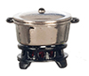 AZG8195 - Silver Pot With/Base