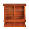 AZM0327 - Store Display Case, Walnut/Cb