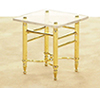 AZM0332 - End Table, Brass/Glass
