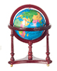 AZM0690 - World Globe, Mahogany