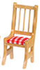 AZM1881 - Oak Chair W/Cushion 4Pcs