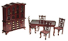 AZT0104 - Dining Room Set, Mahogany, 6Pc
