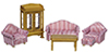 AZT0248 - 1/2 In Living Room Set, 6Pc/Cs