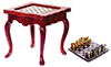 AZT3691 - Inlaid Game Table, Mahogany