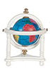 Small Globe with Stand, White