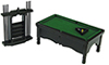 AZT5984 - Pool Table Set, Black/Cs