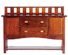 AZT6242 - Buffet, Walnut