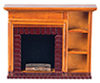 AZT6519 - Fireplace W/Shelves, Walnut