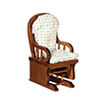 AZT6559 - Glider Rocker, Walnut/Cb
