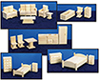 AZT7005 - Toy Furniture, 5 Room Set