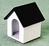 AZT8425 - White Doghouse With Black Roof