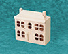 AZT8461 - Mini Dollhouse, Natural/Cb
