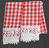 BB50616 - Kitchen Dish Towels, Gingham Red