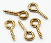 BB60900 - Brass Screw Eyes, 12/Pk
