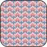 BPCFR12 - Cotton Fabric: Bargello Blueberry