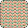 BPCFR13 - Cotton Fabric: Bargello Peach