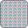 BPCFR14 - Cotton Fabric: Bargello Raspberry