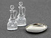 CB078 - Oil & Vinegar Cruets, 2/Pcs