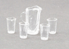 CB092 - Crystal Pitcher W/4 Tumblers