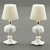 CB103 - White Table Lamps (2)