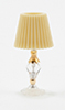 CB116 - Crystal Table Lamp W/Gold Trim