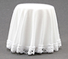 CB125W - Skirted Table, White