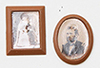 CB39A - Brown Framed Sepia Photos, 2/Pc