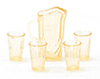 CB88A - Pitcher W/4 Glasses, Amber